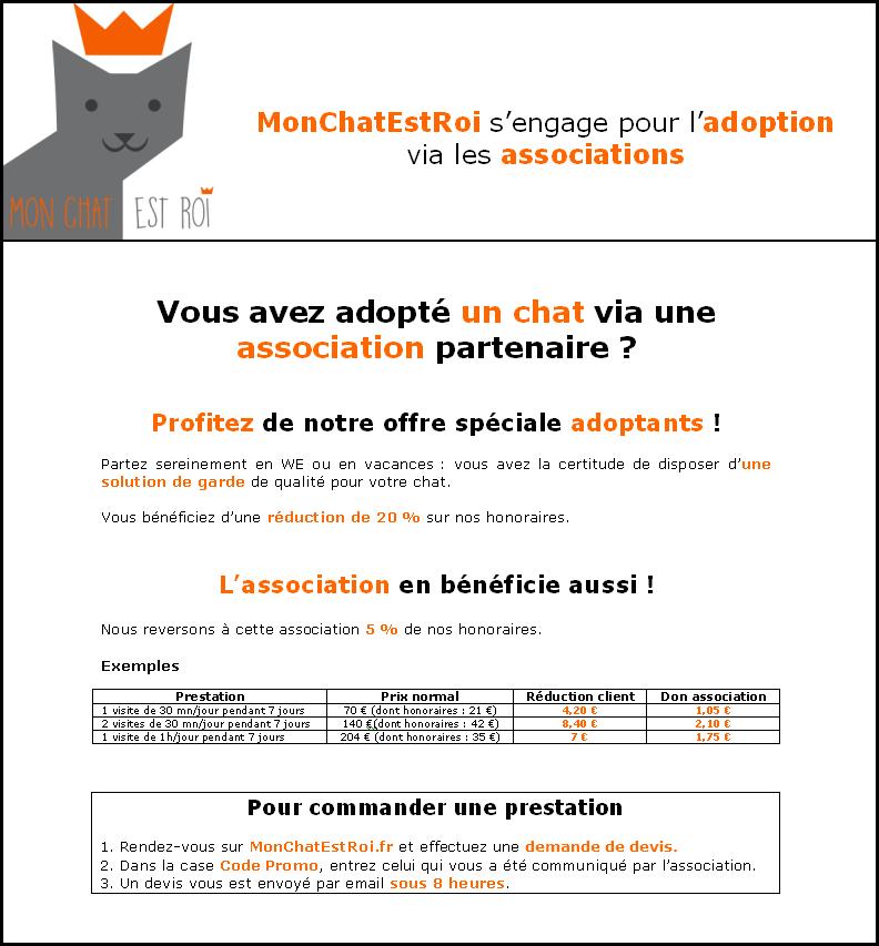 MonChatEstRoi s'engage pour l'adoption de chats - explications adoptants