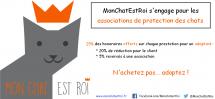 MonChatEstRoi s'engage pour les associations de protection des chats !