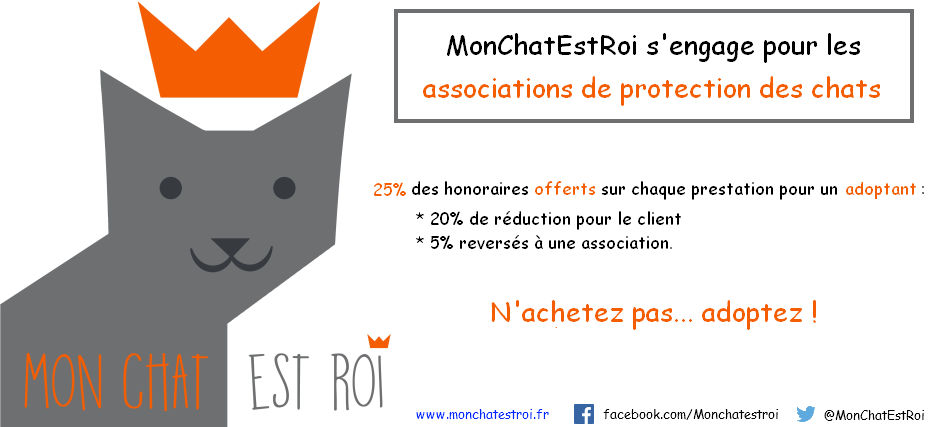 MonChatEstRoi s'engage pour les associations de protection