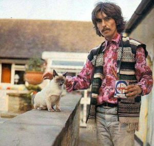 georges-harrison-et-son-chat