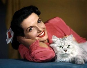jane-russell-et-son-chat