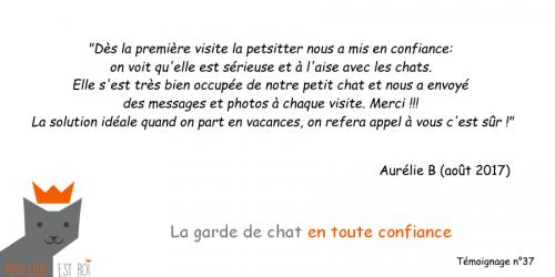Garde de chat Paris 20 - Aurélie B