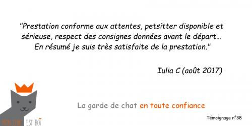 Garde de chat Paris 20 - Iulia C