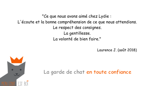 Garde Chat Paris 12 - Laurence J - Lydie