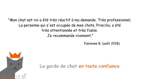 Garde Chat Paris 18 - Fabienne R - Priscilia