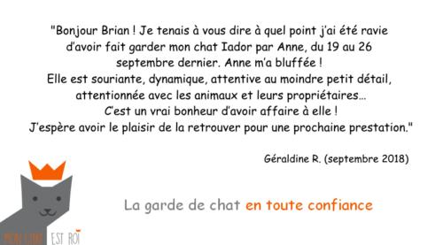 Garde Chat Paris 20 - Géraldine R - Anne
