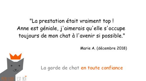 Garde Chat Paris 20 - Marie A - Anne