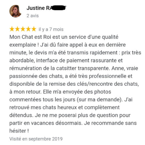 Avis Garde de Chat Marseille 1