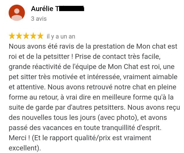 Avis MonChatEstRoi - Aurélie Ta